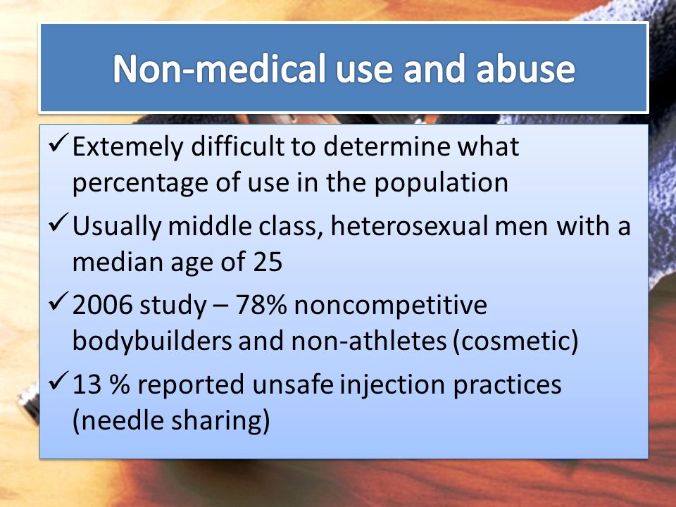 Non-medical use and abuse