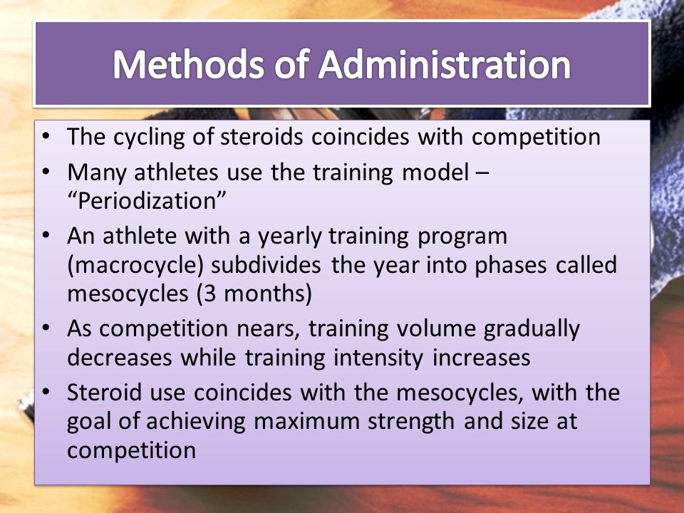 Methods of Administration