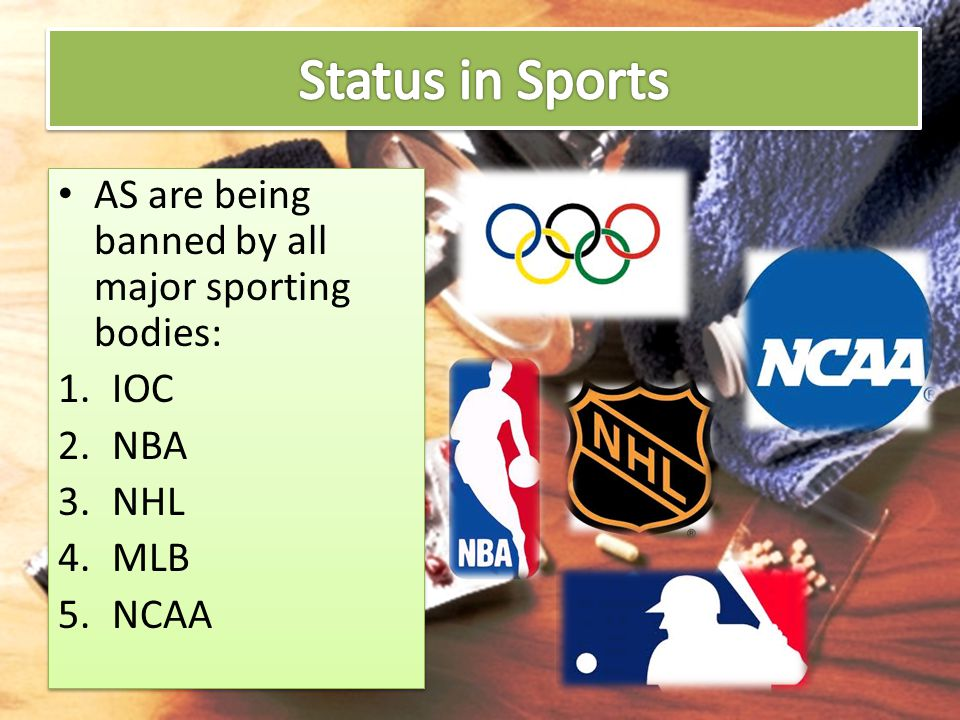 Status in Sports AS are being banned by all major sporting bodies: IOC