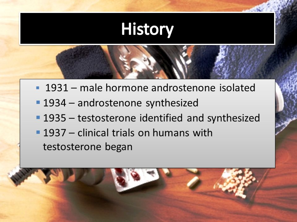 History 1934 – androstenone synthesized
