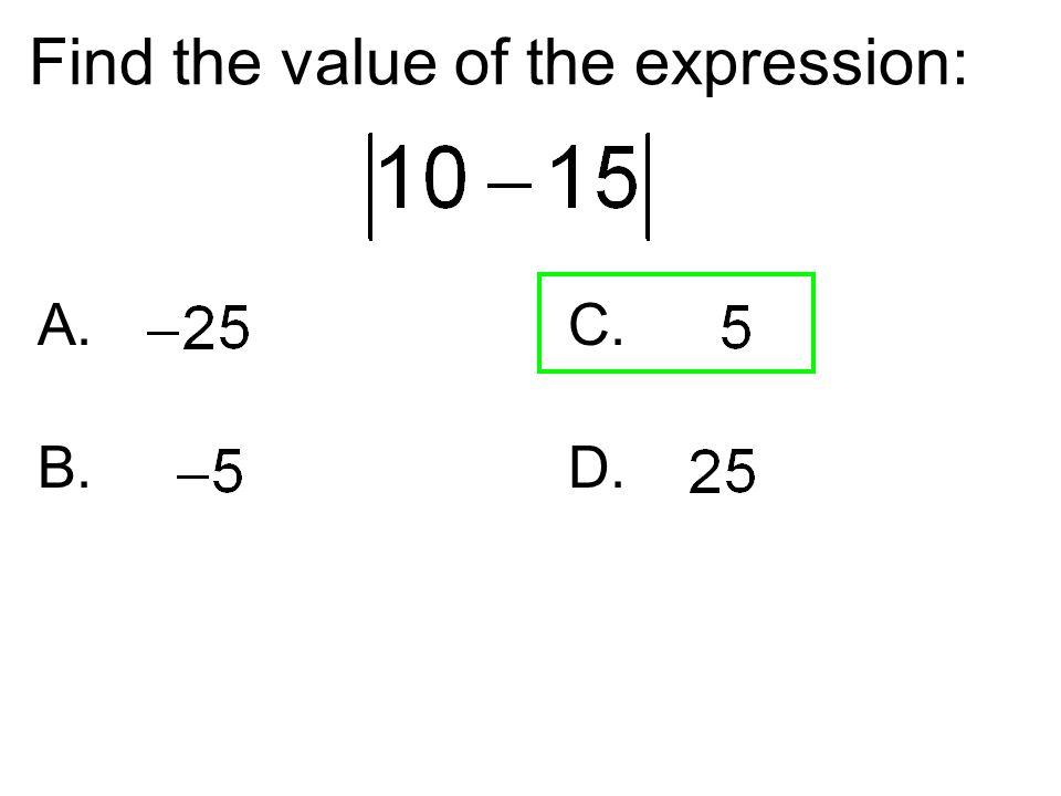 Find the value of the expression: