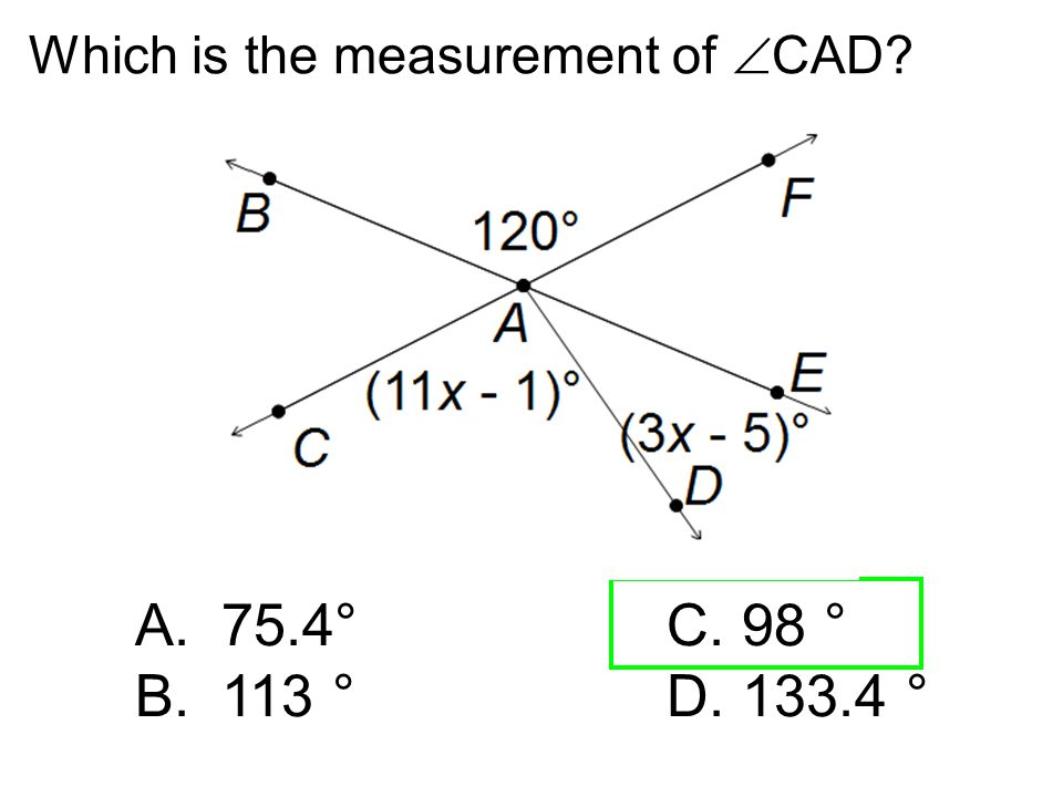 Which is the measurement of CAD
