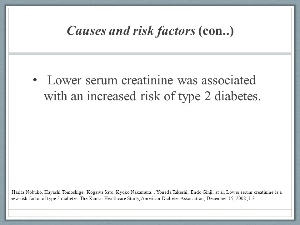 Causes and risk factors (con..)