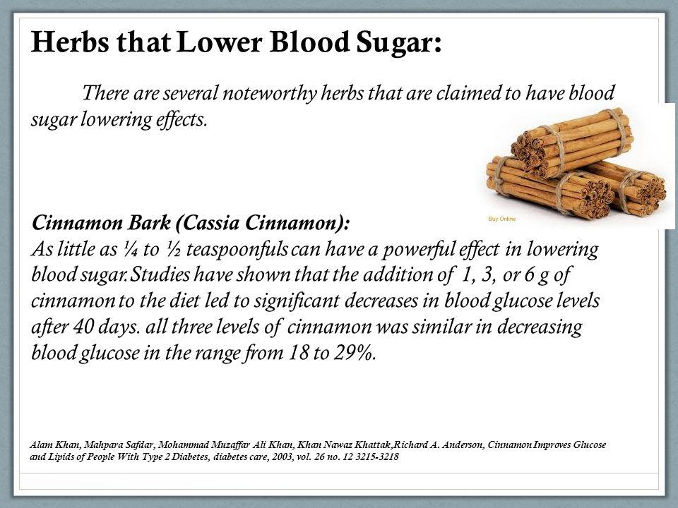 Herbs that Lower Blood Sugar: