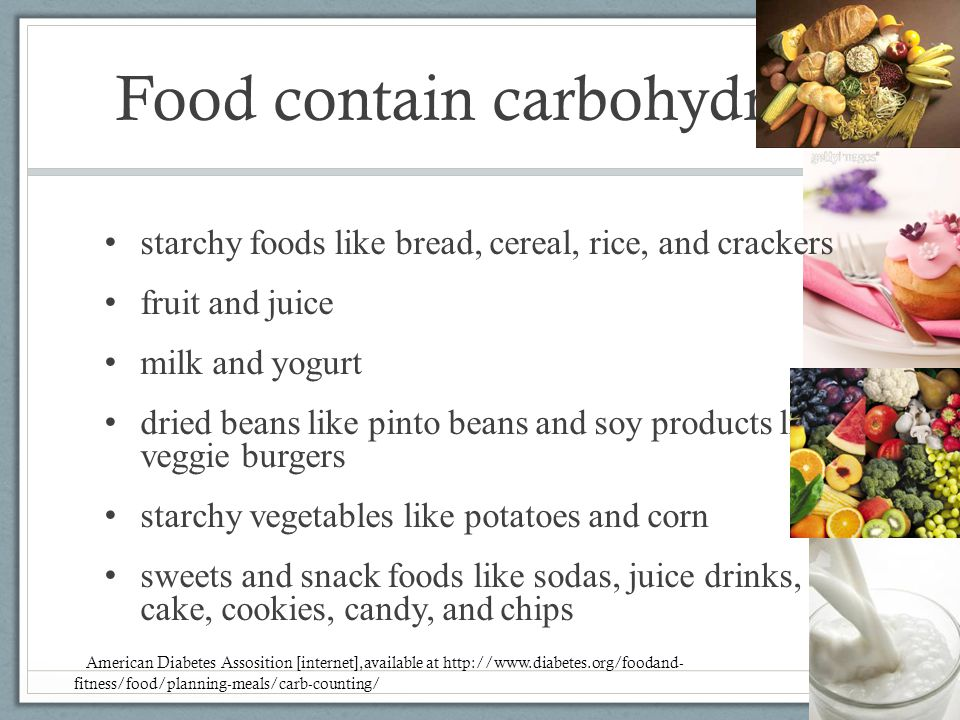 Food contain carbohydrate