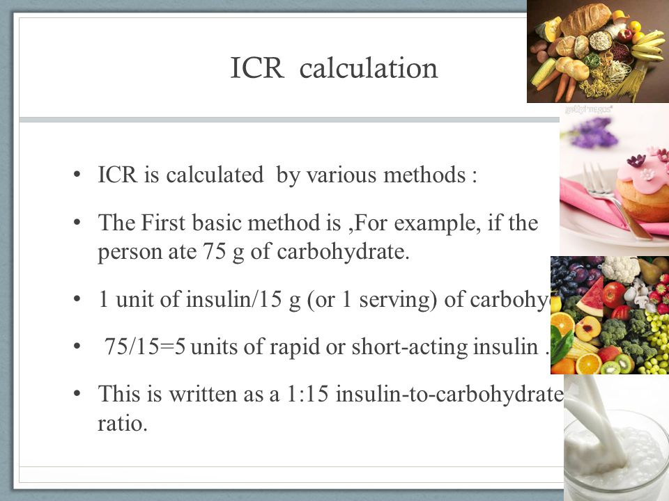 ICR calculation ICR is calculated by various methods :