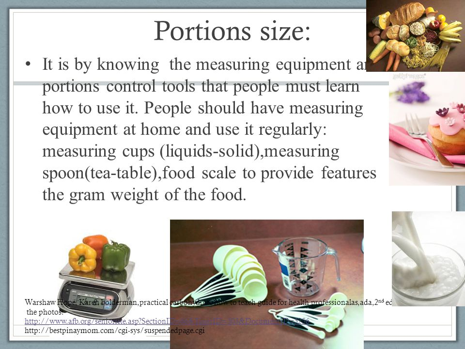 Portions size: