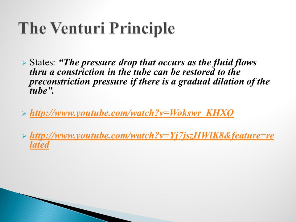 The Venturi Principle