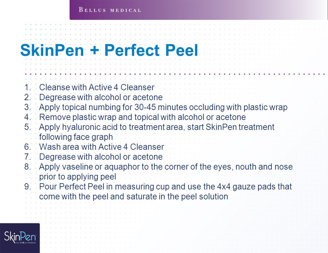 SkinPen + Perfect Peel Cleanse with Active 4 Cleanser