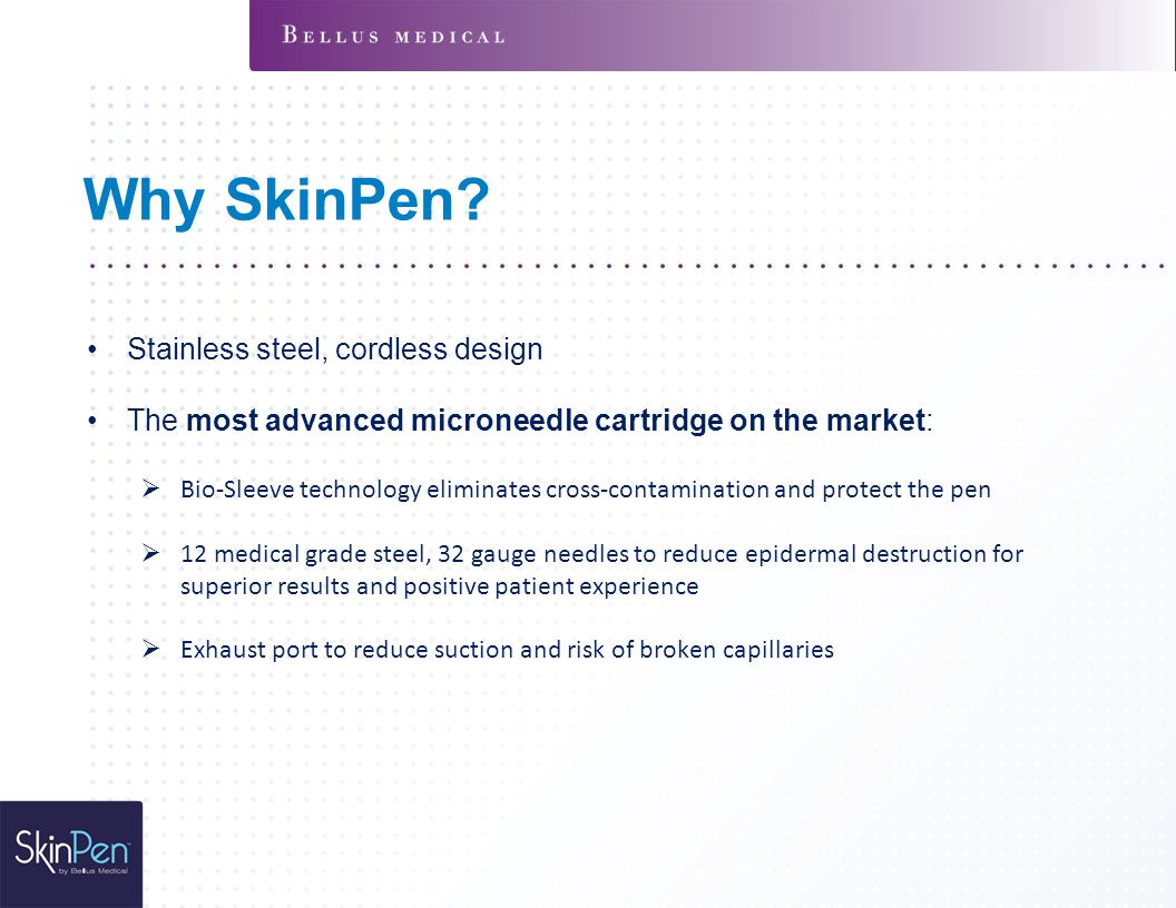 Why SkinPen Stainless steel, cordless design