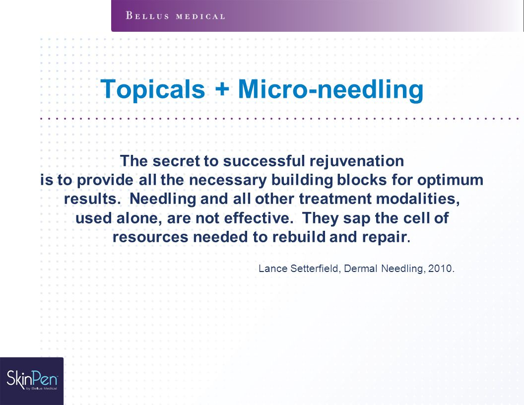 Topicals + Micro-needling