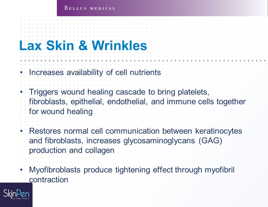 Lax Skin & Wrinkles Increases availability of cell nutrients