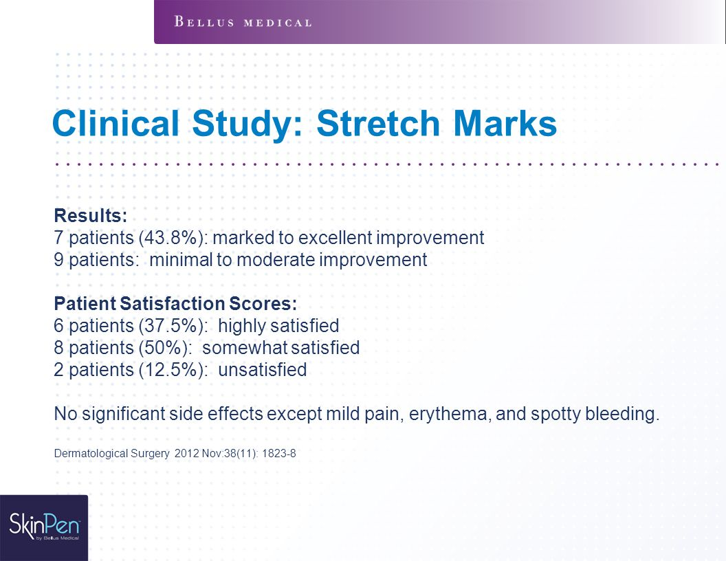Clinical Study: Stretch Marks