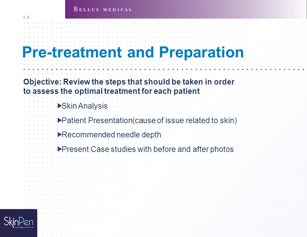 Pre-treatment and Preparation