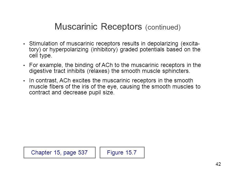 Muscarinic Receptors (continued)
