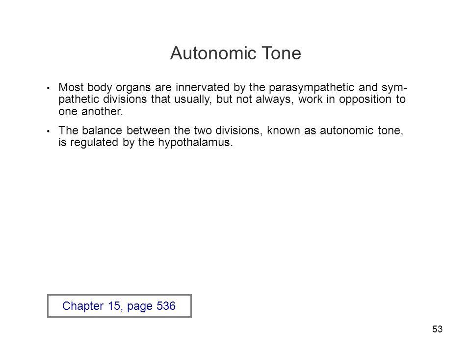 Autonomic Tone