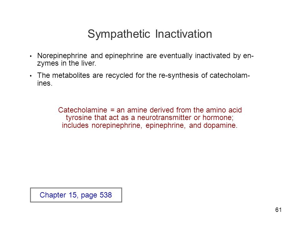 Sympathetic Inactivation