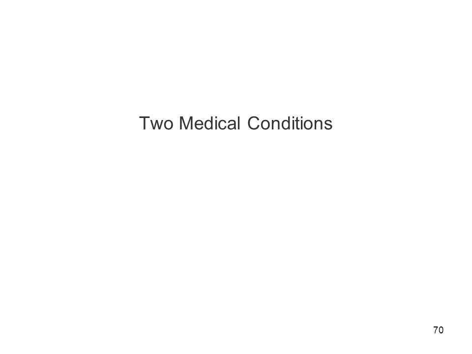 Two Medical Conditions