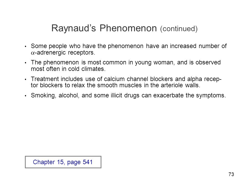 Raynaud's Phenomenon (continued)