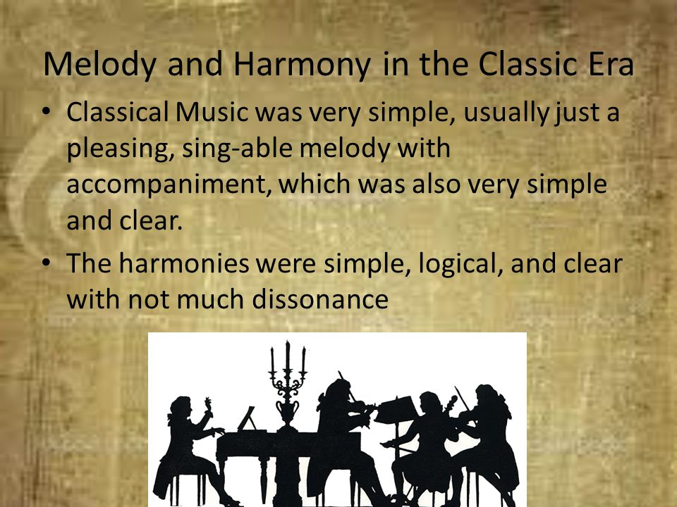 Melody and Harmony in the Classic Era