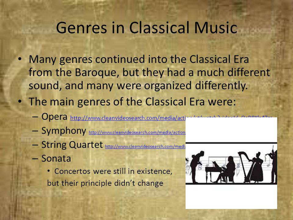 Genres in Classical Music