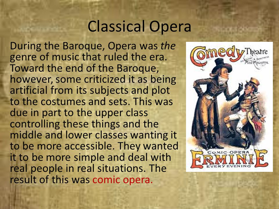Classical Opera