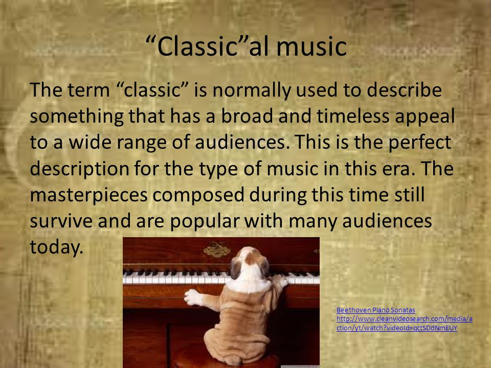 Classic al music