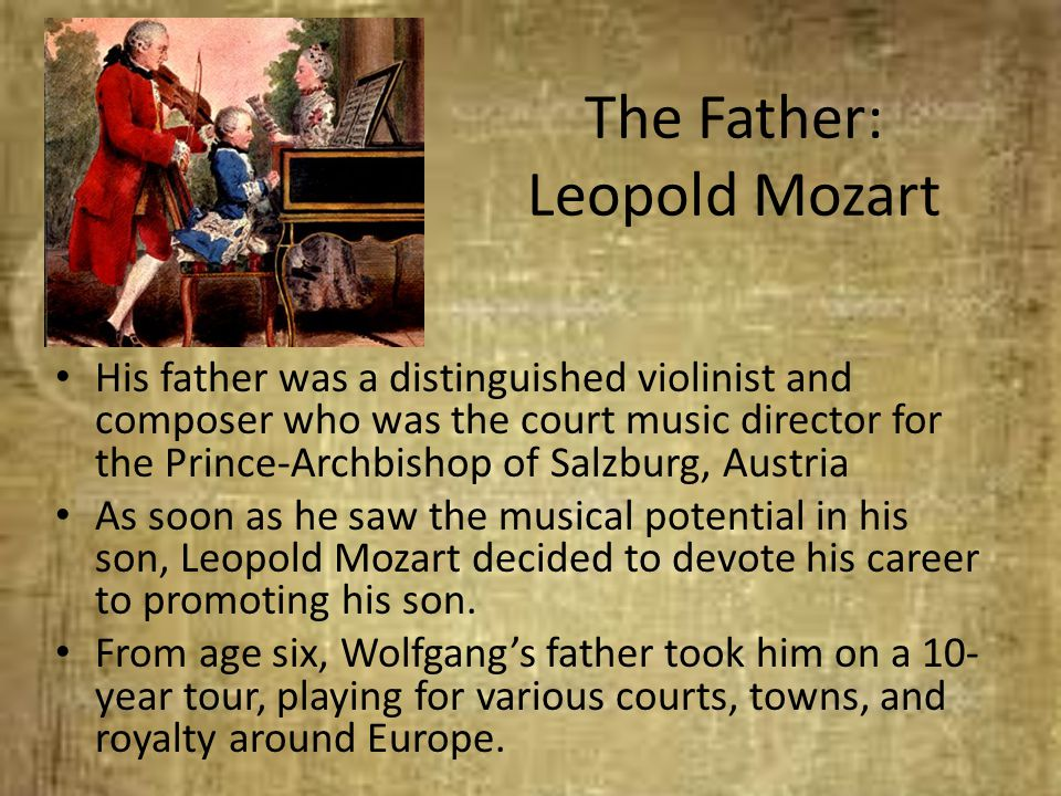 The Father: Leopold Mozart