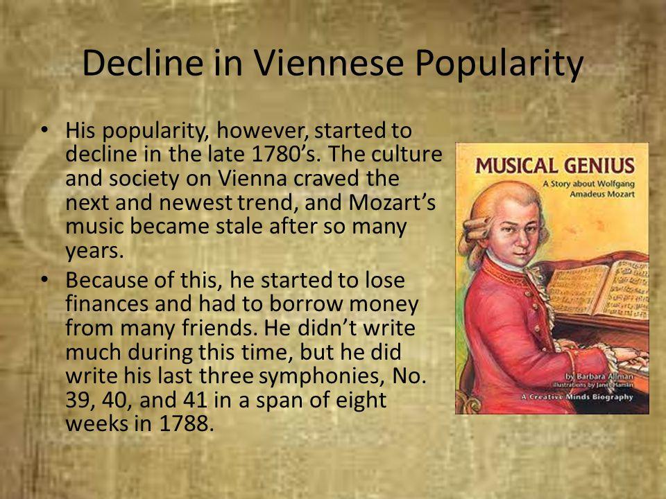 Decline in Viennese Popularity