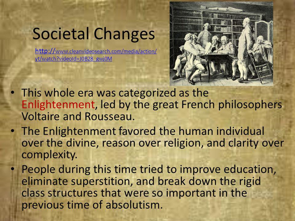 Societal Changes http://www.cleanvideosearch.com/media/action/yt/watch videoId=J0B28_gwj0M.