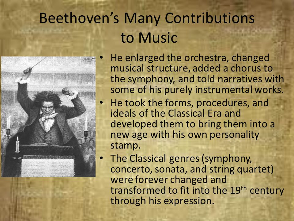 Beethoven's Many Contributions to Music