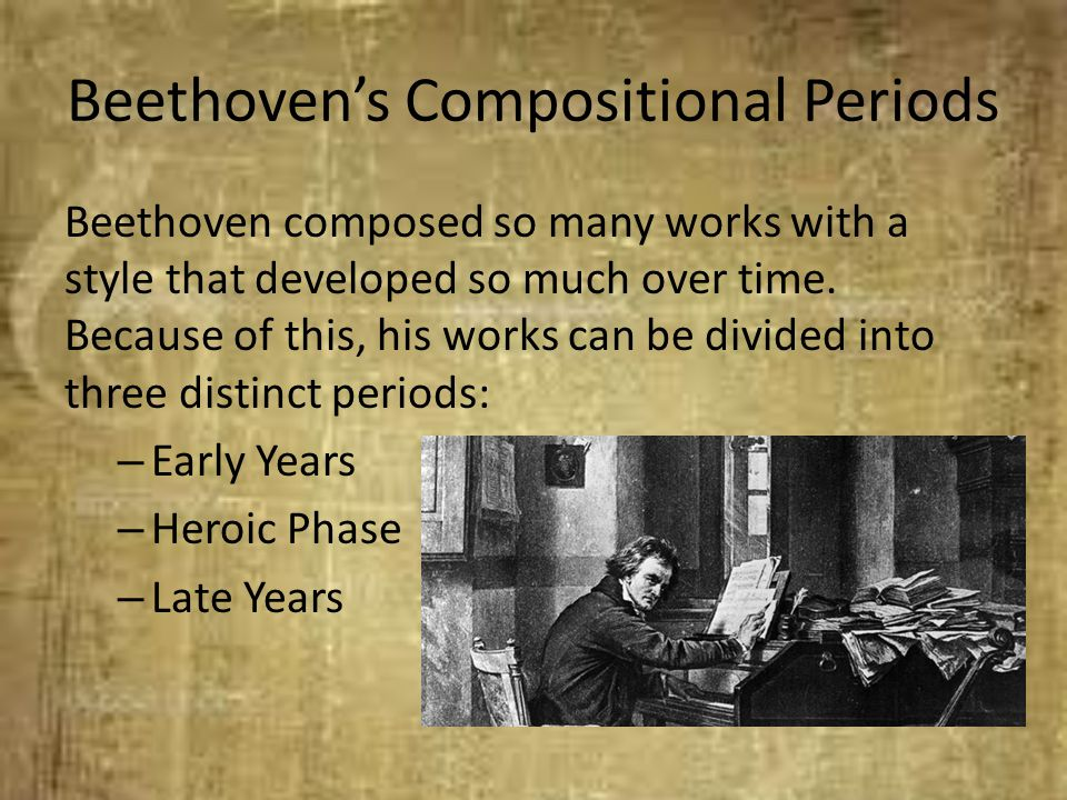 Beethoven's Compositional Periods