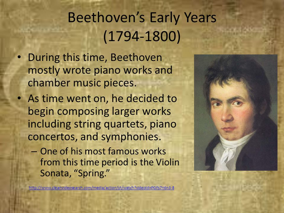 Beethoven's Early Years (1794-1800)