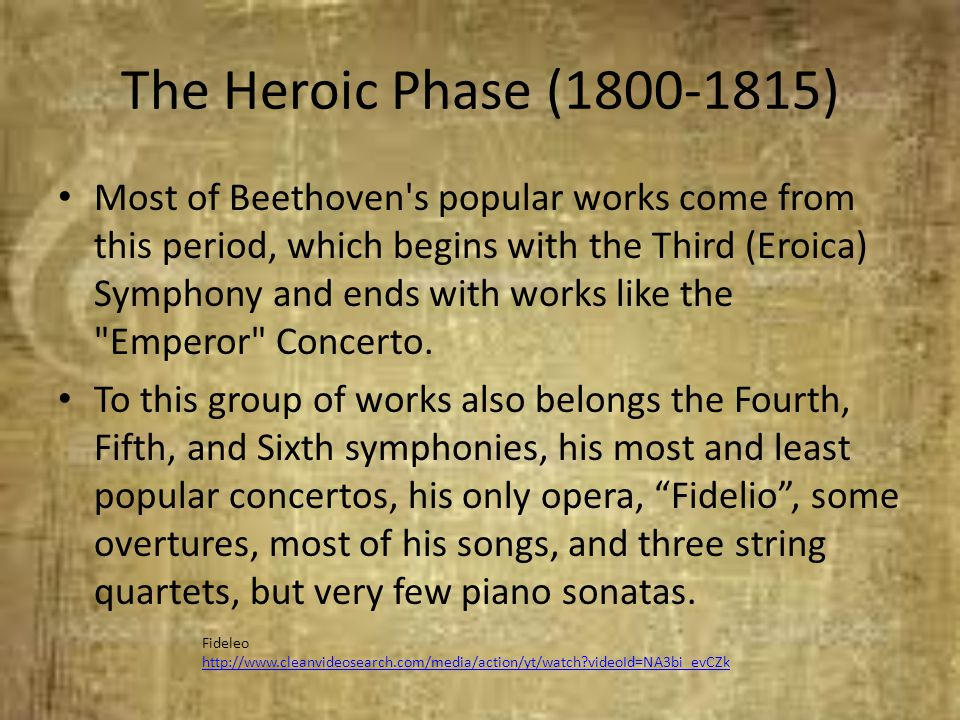 The Heroic Phase (1800-1815)