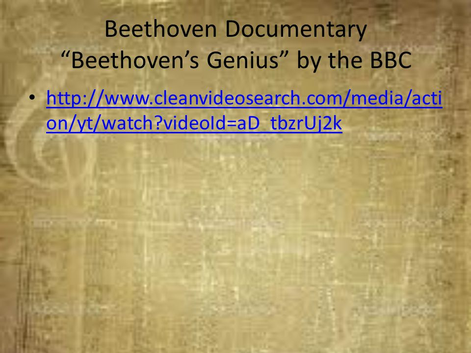 Beethoven Documentary Beethoven's Genius by the BBC