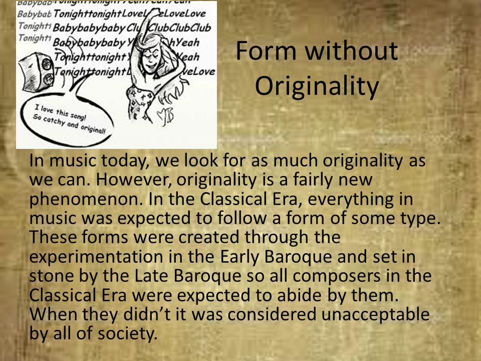 Form without Originality