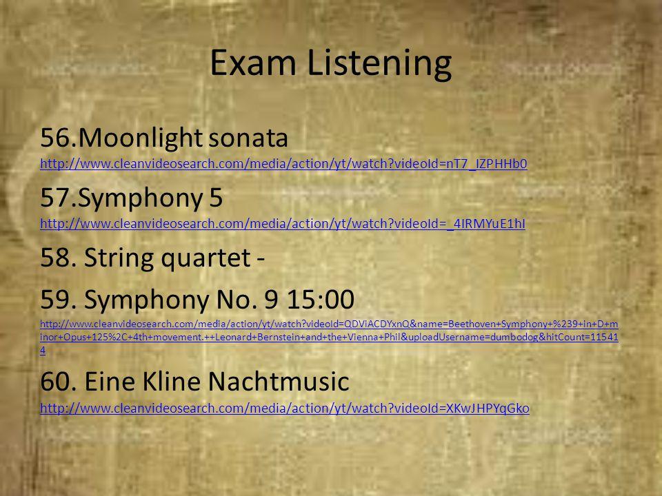 Exam Listening