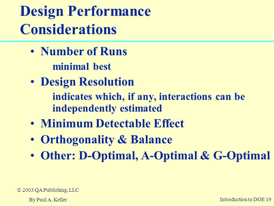 Design Performance Considerations