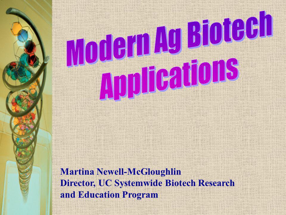 Modern Ag Biotech Applications Martina Newell-McGloughlin