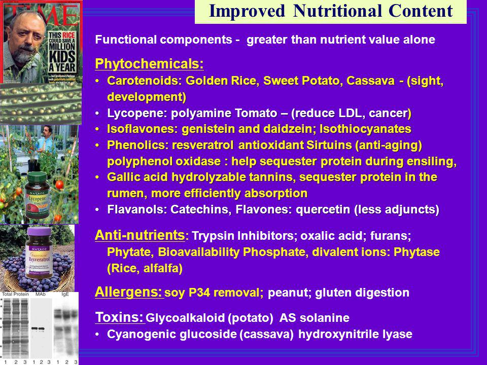 Improved Nutritional Content