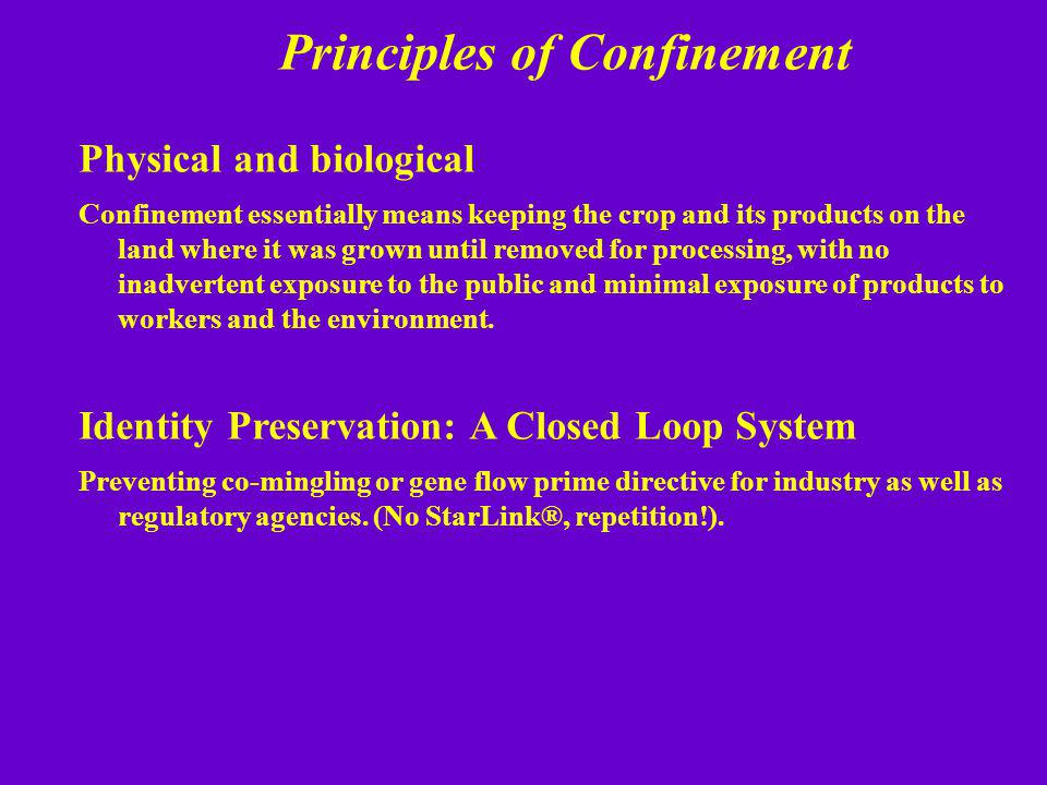 Principles of Confinement
