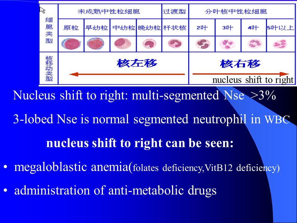 Nucleus shift to right: multi-segmented Nse >3%