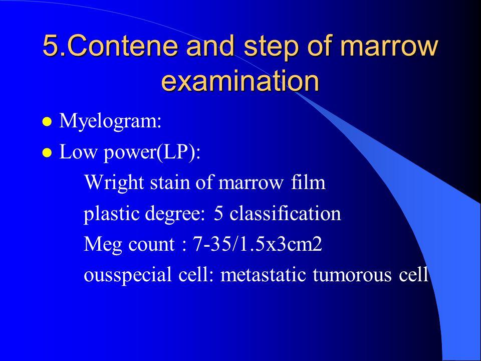 5.Contene and step of marrow examination