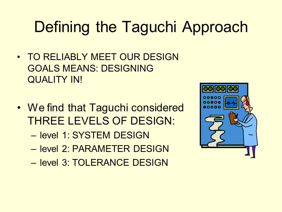 Defining the Taguchi Approach