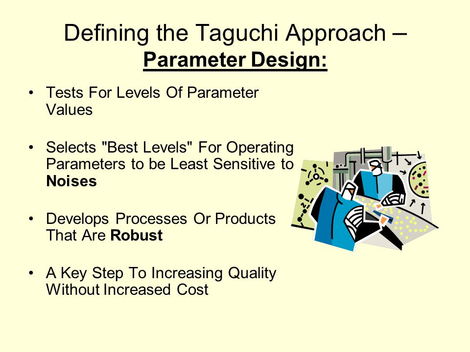 Defining the Taguchi Approach – Parameter Design: