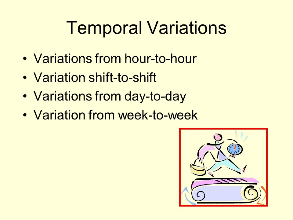 Temporal Variations Variations from hour-to-hour