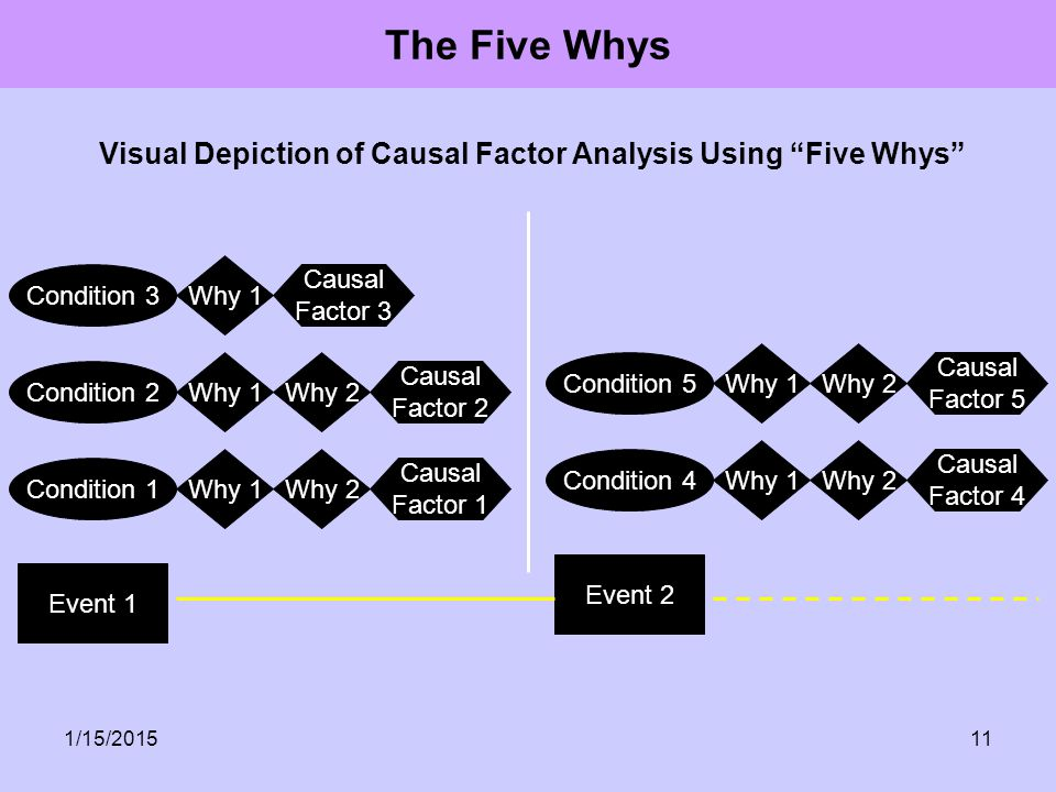 Visual Depiction of Causal Factor Analysis Using Five Whys