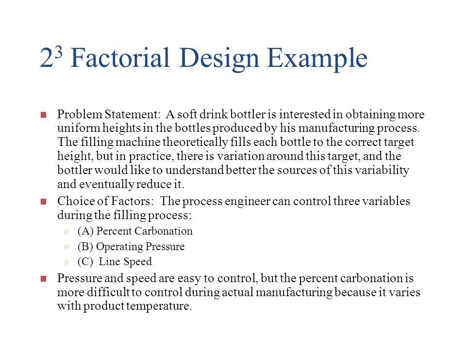 23 Factorial Design Example