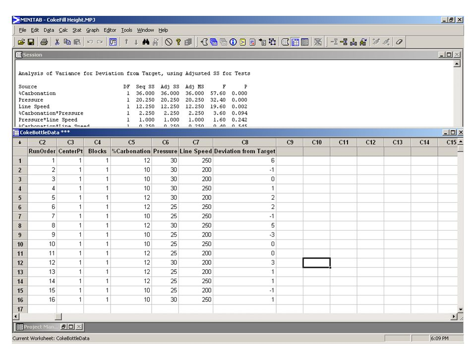 Now, instead of having them type the data in, have them open the supplied Minitab worksheet