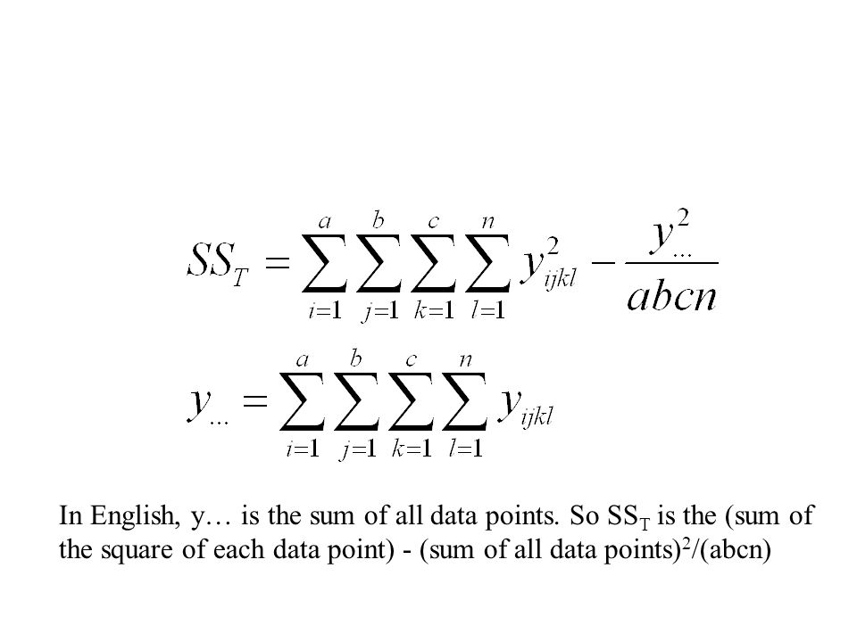 In English, y… is the sum of all data points